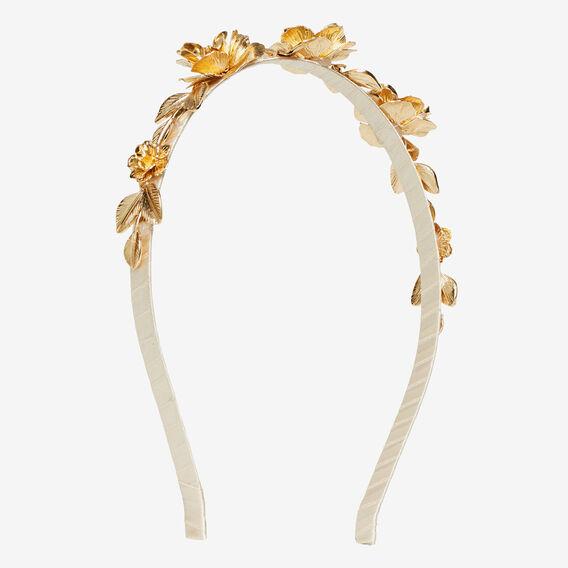 Flower Headband  GOLD  hi-res