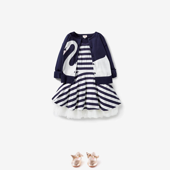 Stripe Party Dress  NAVY  hi-res