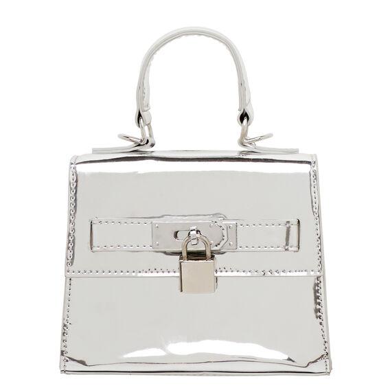 Super Metallic Handbag  SILVER  hi-res