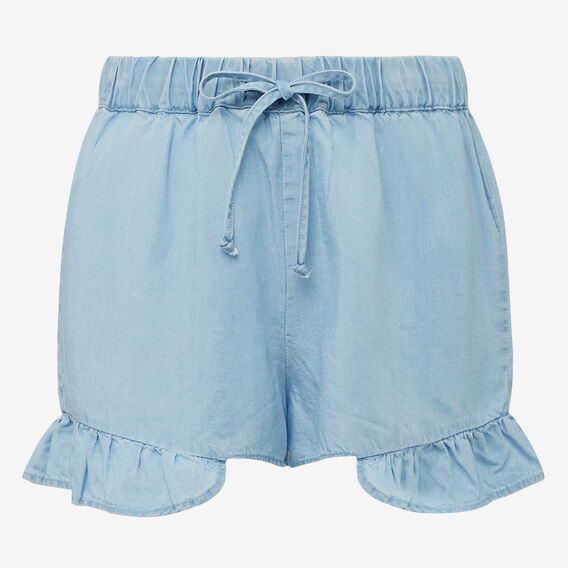 Lyocell Short  SUNBLEACHED CHAMBRAY  hi-res