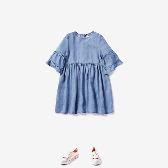 Frill Sleeve Dress  STARLIGHT WASH  hi-res
