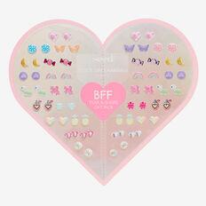 BFF Heart Stick On Earrings  MULTI  hi-res