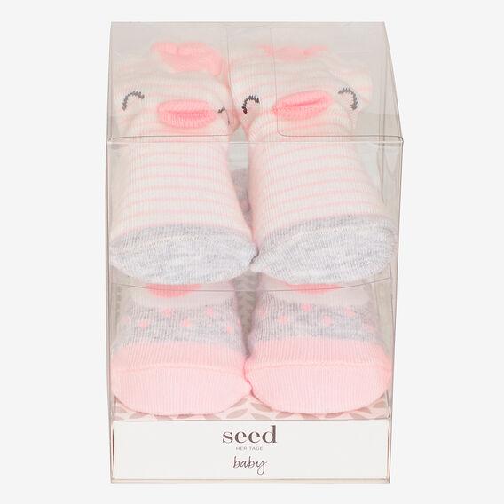 2 Pack Bird Sock Gift Box  PINK  hi-res