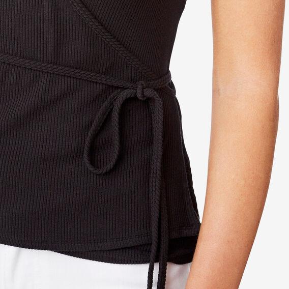 Wrap Detail Top  BLACK  hi-res