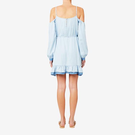 Two Tone Frill Dress  SPRING BLUE  hi-res