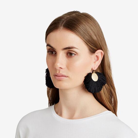 Aztec Earrings  BLACK/GOLD  hi-res