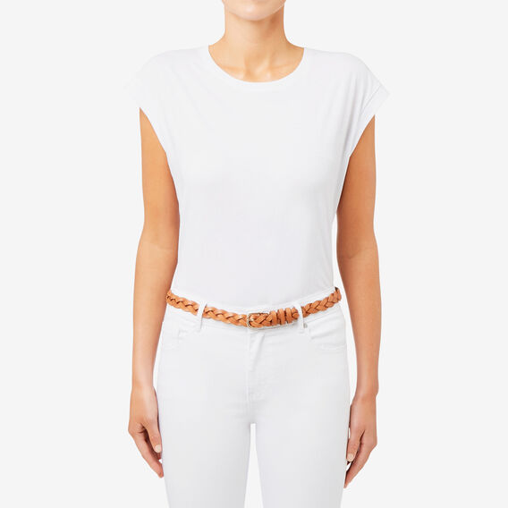 Chelsea Braided Belt  TAN  hi-res