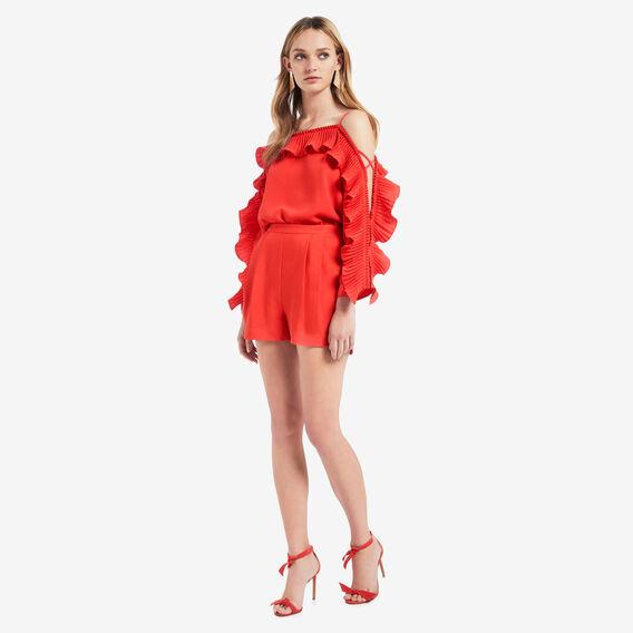 Pleat Detail Blouse  ROYAL RED  hi-res