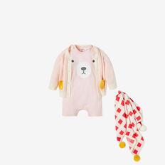 Novelty Bear Jumpsuit  SOFTEST PINK  hi-res