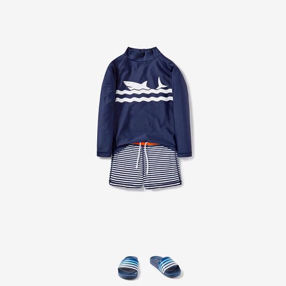 Mini Stripe Swim Short  MIDNIGHT BLUE  hi-res