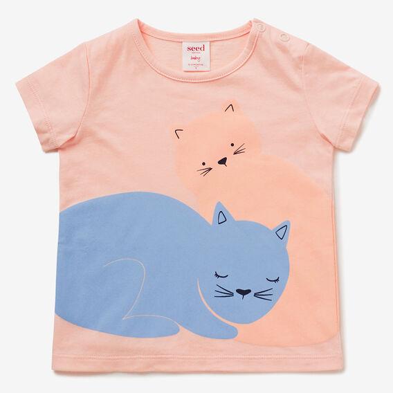 Novelty Kitty Tee  PASTEL PEACH  hi-res