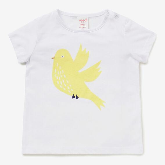 Bird Tee  WHITE  hi-res