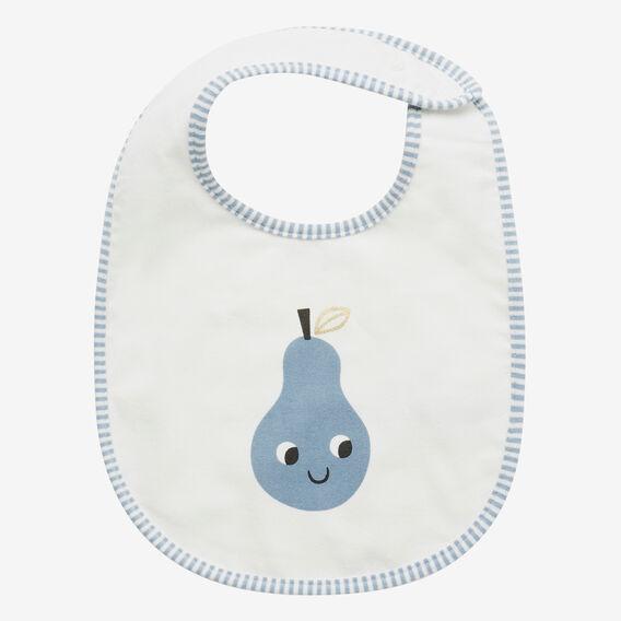 Stripe Pear Bib  CLOUD BLUE  hi-res