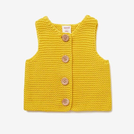 Chunky Knit Vest  SUNNY MUSTARD  hi-res