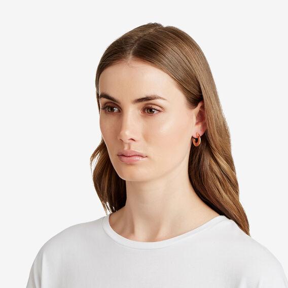 Small Flat Hoop Earrings  ROSE GOLD  hi-res