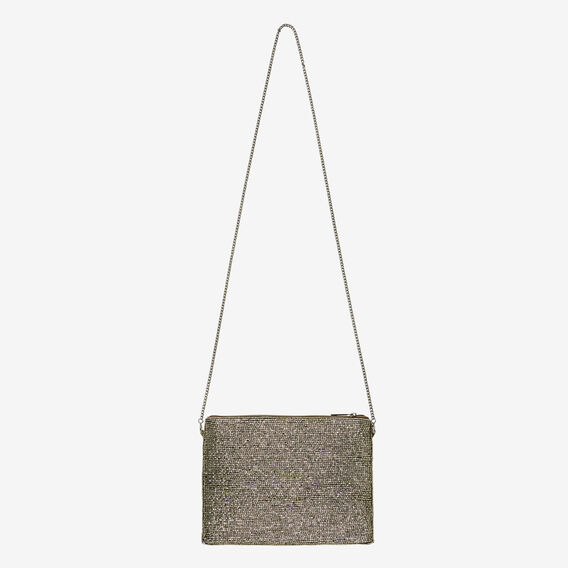 Madison Beaded Clutch  ANTIQUE SILVER  hi-res