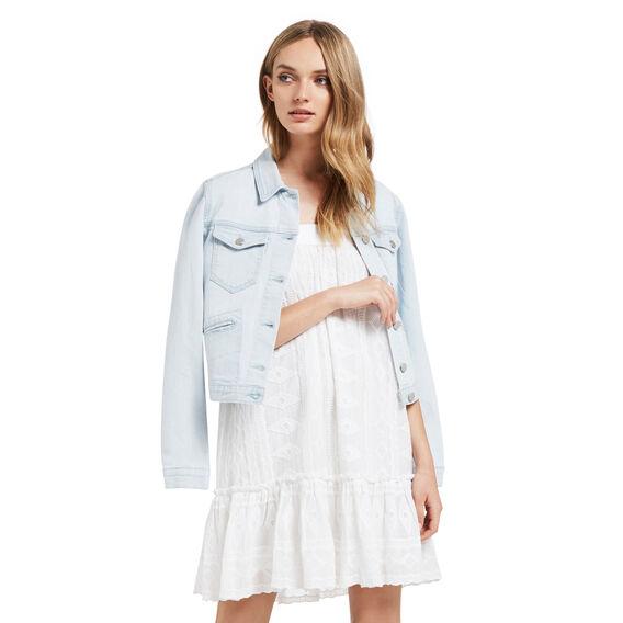 Off Shoulder Frilly Dress  WHITE  hi-res