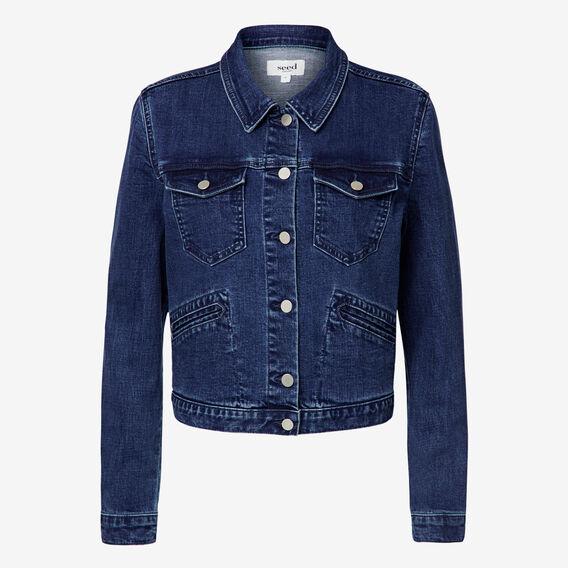 Cropped Denim Jacket  REAL DENIM BLUE  hi-res
