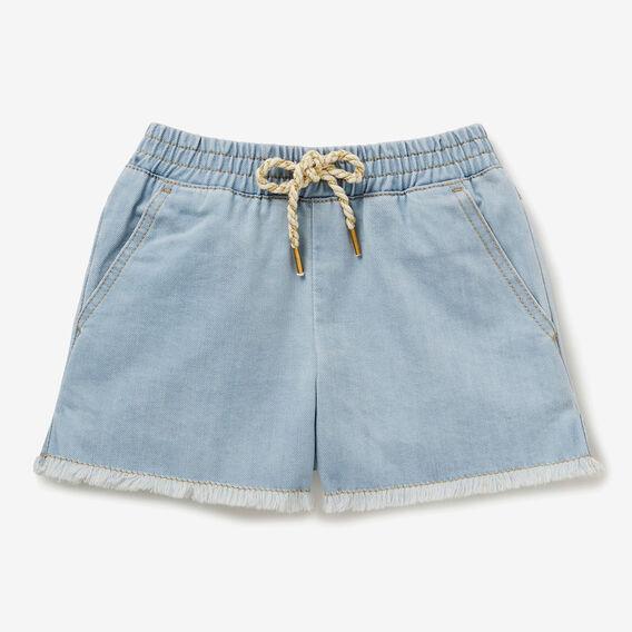 Denim Raw Hem Shorts  SEA BLUE WASH  hi-res