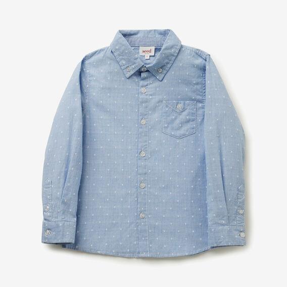 Embroidered Shirt  BLUE STRIPE  hi-res