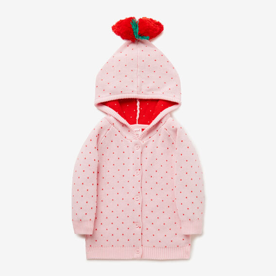Strawberry Hooded Cardi  ICE PINK  hi-res