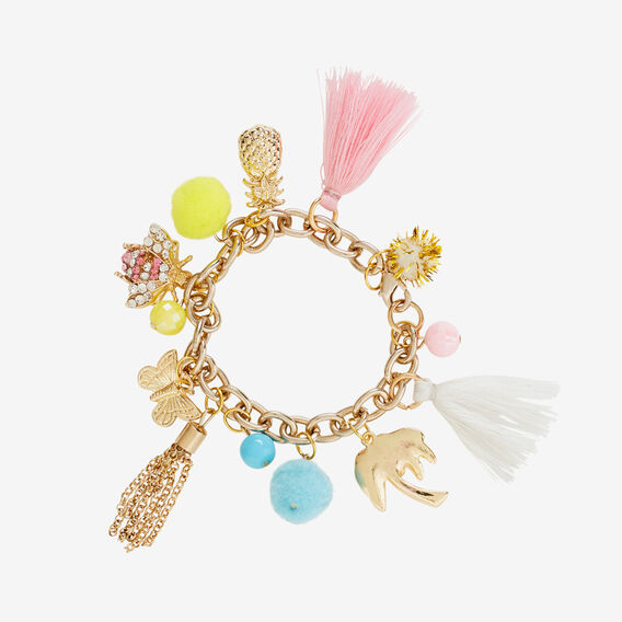 Gold Charm Bracelet  GOLD  hi-res