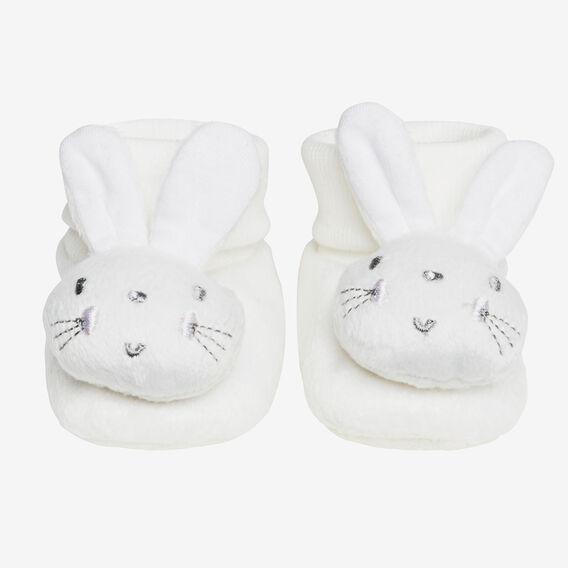 Bunny Rattle Socks  WHITE  hi-res