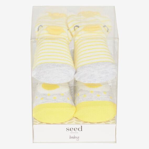 2 Pack Bird Sock Gift Box  YELLOW  hi-res