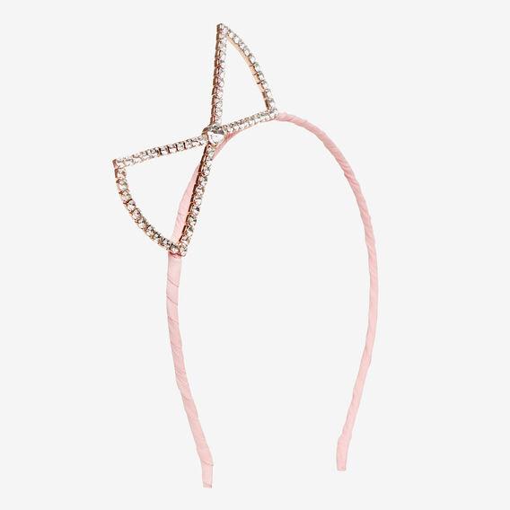 Diamante Bow Headband  ICE PINK  hi-res