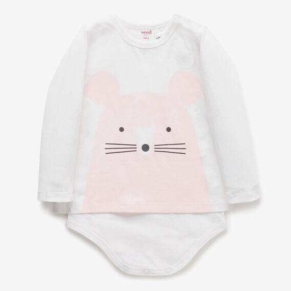 Mouse T-Shirt Bodysuit  CANVAS  hi-res
