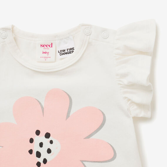 Frill Flower Bodysuit  CANVAS  hi-res