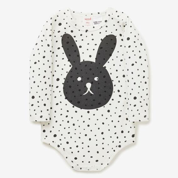 Bunny Face Bodysuit  SLATE  hi-res