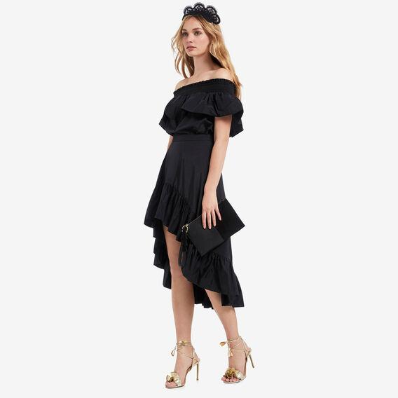 Hi Lo Ruffle Skirt  BLACK  hi-res