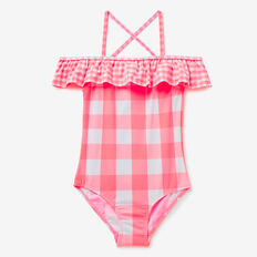 Gingham Bather  CORAL PINK  hi-res