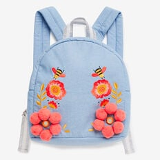 Embroidered Backpack  DENIM  hi-res