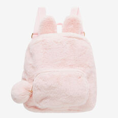 Plush Bunny Backpack  ICE PINK  hi-res