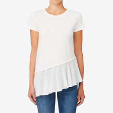 Trim Asymmetrical Tee  CANVAS  hi-res