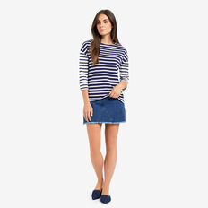 Stripe 3/4 Sleeve Tee  MULTI STRIPE  hi-res