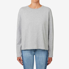 Tie Back Sweater  MID GREY MARLE  hi-res