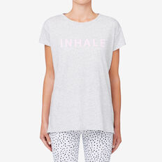 Inhale Tee  SMOKEY GREY  hi-res