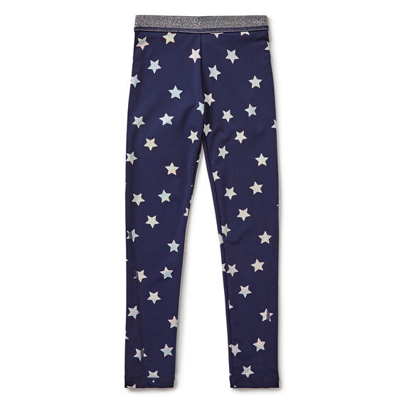 Foil Star Active Legging  NAVY  hi-res