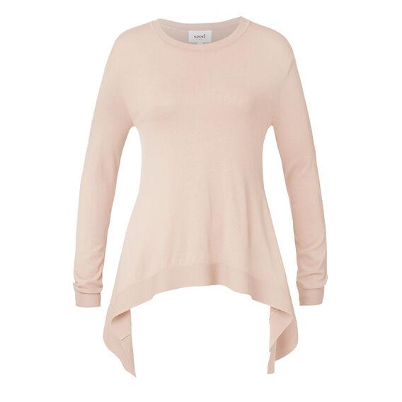Frill Back Sweater  DUSTY BLUSH  hi-res