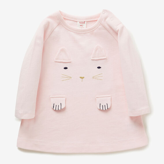 Novelty Kitty Dress  ICE PINK  hi-res
