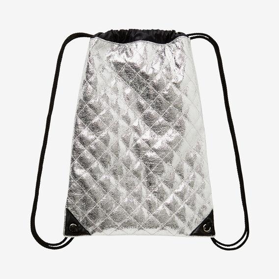 Foil Drawstring Pack  SILVER  hi-res