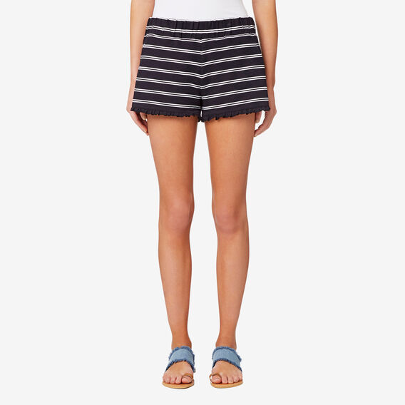 Frill Hem Short  STRIPE  hi-res
