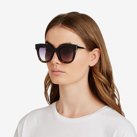 Carys D-Frame Sunglasses  BLACK TORT  hi-res