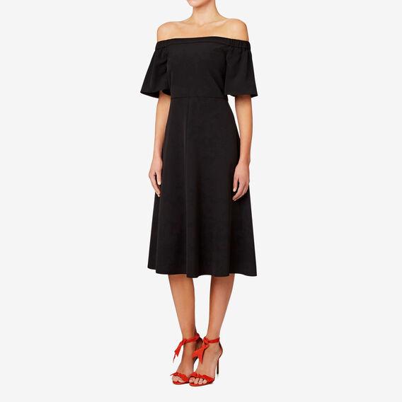 Off Shoulder Dress  BLACK  hi-res