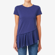 Trim Asymmetrical Tee  ROYAL NAVY  hi-res