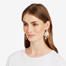 Tiered Disc Earrings  GOLD  hi-res