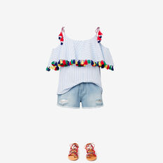 Tassel Top  SKY STRIPE  hi-res